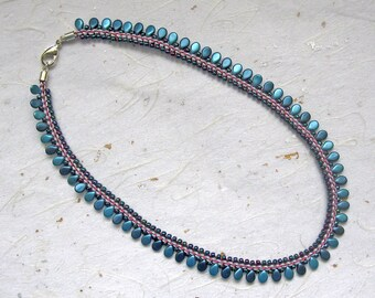 Beaded kumihimo necklace Prumihimo necklace braided necklace pipalicious necklace