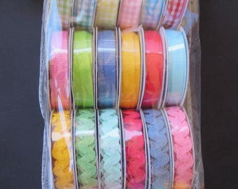 American Crafts 5887 Mayberry Collection Value Pack Premium Ribbon