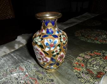 Vintage Cloisonne Small Vase