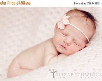 10% SALE felt flower headband, newborn headband, baby hair flower, adult clip, hair clip, photo prop, adult headband, pink baby headband