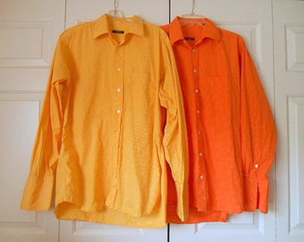 Vintage rare find Two mens Burberry dress Shirts