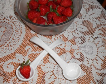 Serving Spoons Pottery Stoneware Dipper Ladle Laddle  - Set of Two