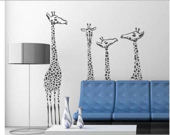 20% OFF Giraffe family Vinyl Lettering  animal Decal wall words graphics Home decor bedroom  itswritteninvinyl