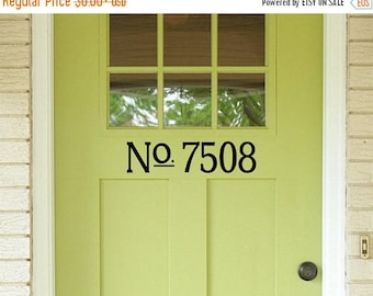 Vinyl House Numbers Etsy - Custom vinyl wall decals for dining room