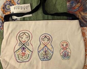 Russian nesting dolls purse