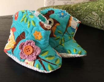Baby cowgirl/cowboy booties Size One - C