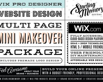 RESERVED FOR CHRISTINA - Wix Website Long Landing Page Mini Makeover Package - Wix WebDesign Package - Wix Pro - Wix Website Clean Up