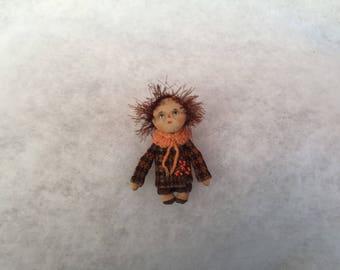 Primitive doll brooch,doll brooch,textile doll brooch,cloth doll brooch,art doll brooch,ooak doll brooch,miniatiure doll brooch