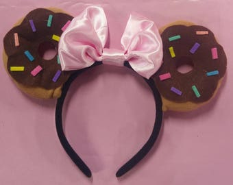 Chocolate doughnut minnie ears