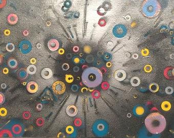 Ideas Expand, 2017, Acrylic on Canvas