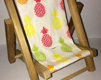 Pineapple Red Green Orange Yellow Large Cell Phone Chair Mamakohawaii