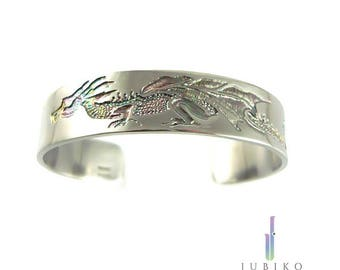 Titanium men's durable handmade bracelet - Dragon