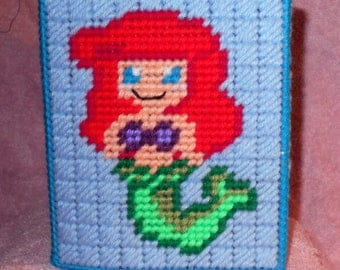 Mermaid 1 Tissue Box Cover Plastic Canvas Pattern