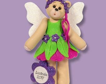 Belly Bear Fairy / HANDMADE POLYMER CLAY Personalized Christmas Ornament Limited Edition