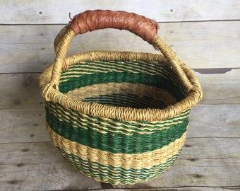 Small Vintage Basket - African Market Woven Basket
