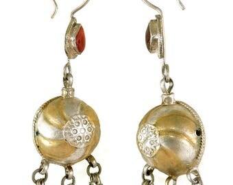 Earrings Silver Dangles Afghanistan 108281