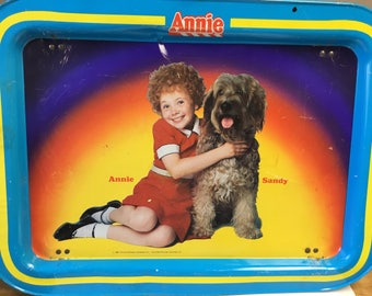 Annie, the Broadway Musical Metal TV Tray 1980s