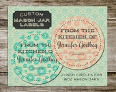 Handmade Retro Style Custom Mason Jar Labels from Curious London