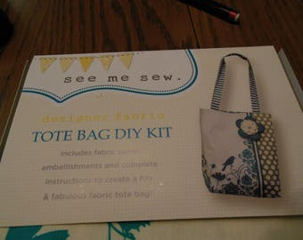 See Me Sew My Mind's Eye Tote Bag DIY Kit