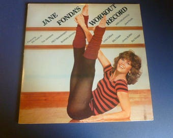Jane Fonda's Workout Record LP CX2-38054 Double Album Columbia Records 1981