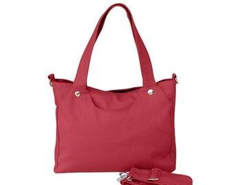 On Sale 20% off Red bag, womens bag, messenger bag, shoulder bag, womens purses, canvas bag for women