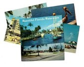 175 Vintage Used Florida Postcards  - Collage, Mixed Media, Scrapbooking, Assemblage, Paper Craft, Art Journal Supplies