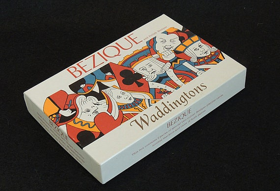 Vintage Waddingtons Bezique Card Game & Polish Bezique