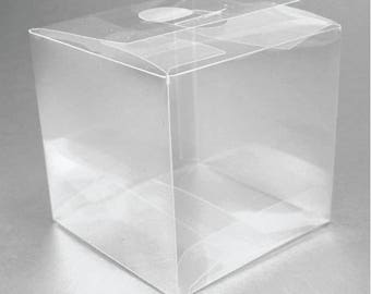 70 Clear Wedding Favor Boxes - Perfect for Shot Glasses, Votive Holders, Etc
