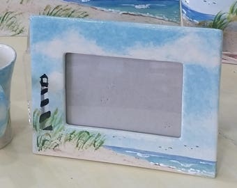 Cape Hatteras Lighthouse Beach picture frame