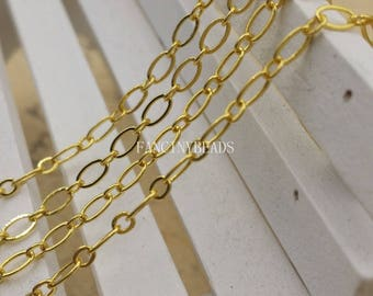 Bulksale-Quantity 100 meters-330 feet fabulous oval loop gold brass chain- -F1344