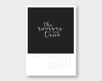 Rolling 12-Month Quote Calendar