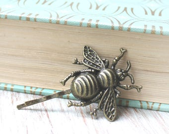 Bumble Bee Hair Pin - Woodland Hair Accessory - Bumble Bee Accessory - Woodland Jewelry - Bee Lover Gift-Bumble Bee Bobby - Vintage Wedding