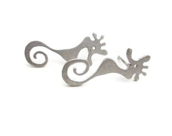 Seahorse Earrings - Silver Stud Earrings - Cute Animal Earrings - Funny Earrings - Everyday Earrings - Little Earrings - Minimal Jewelry