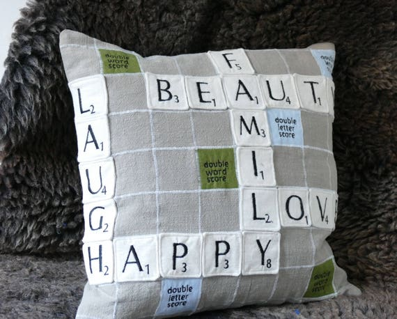 Scrabble Pillow Cover 16 Inch