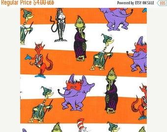 Blow Out Sale Spooktacular Seuss, Characters, ADE-15305-283, Robert Kaufman Fabrics, 1/2 Yard