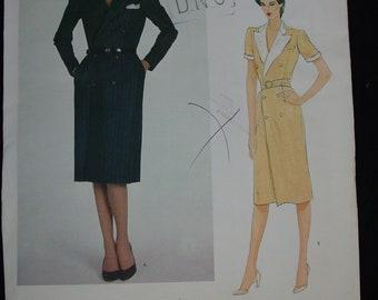Vintage Pattern c.1980's Vogue American Designer Ralph Lauren Size 12, Uncut
