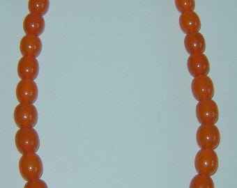 uNIQUE aNTIQUE Old nATURAL BALTIC Honey AMBER Bead NECKLACE Rare 42 gr 19 1/2""