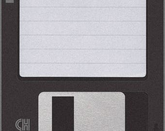 "Retro FLOPPY DISK Floor Mat, 36"" Square, Fully Customizable"