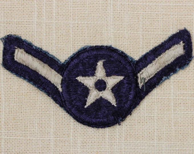 US Air Force USAF Vintage Patch Airman E-2 Uniform Sew on Large 7Z