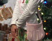 Girls Purse, monogram purse for little girls, Corduroy, lined purse, little girls, small purse, monogram purse