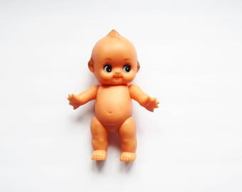 Vintage Kewpie Doll - Vinyl Kewpie - Kitschy Cute - Molded Doll - Movable Kewpie