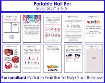 """Color Street Portable Nail Bar: 8.5""""x5.5"""" Personalized Marketing Material ColorStreet, Digital Download"""