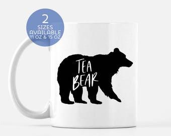 Tea Bear Gift Mug | Tea Lover | Tea Drinker | Gift for Her | Gift for Him |