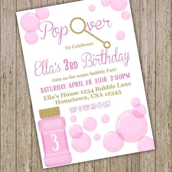 Bubble birthday invitation bubble birthday party invitations il570xn filmwisefo