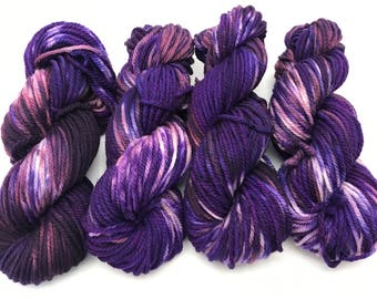 Giorgio Merino Bulky, Hand Dyed Yarn, Superwash Merino, Bulky yarn, Chunky Yarn, Hand dyed, Bulky, Hand Dyed,  Purple Is My Favorite Color
