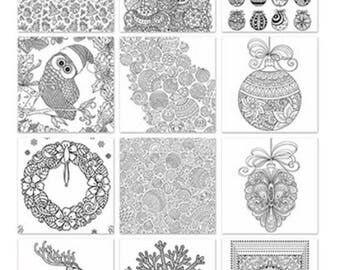 adult and teen coloring book holiday trends 6 x 6 paper pad card making - Teen Coloring Books