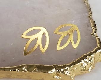 Gold Stud Earrings - Small Gold Earrings, Geometric Earrings, Gold Ear Studs, Everyday Earrings, Minimalist Earrings, Minimalist Jewellery