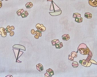 Blue Baby Toy Cotton Fabric