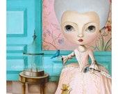 Big Eyes Marie Antoinette, Fine Art Print,  popsurrealism wall art by inameliart