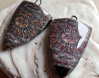 Polynesian Tapa Cloth Shield Decal Droppers#3